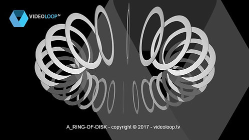 VideoLoop.tv | A 3D ring of disks rotate on its axis