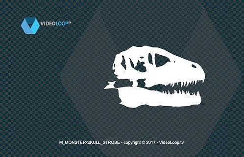 videoloop.tv | A stroboscopic 3d skull of a monster