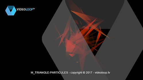 VideoLoop.tv | Triangles particles