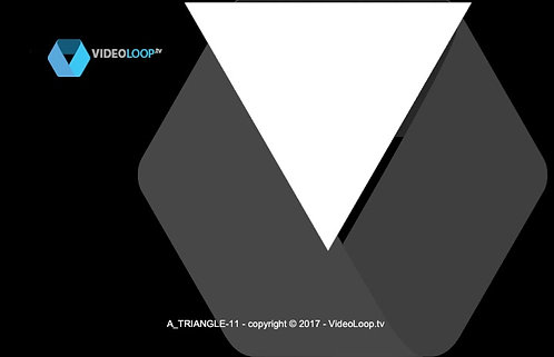 VideoLoop.tv | An isometric triangle grows in front