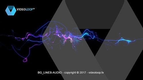 VideoLoop.tv | Audio colored lines