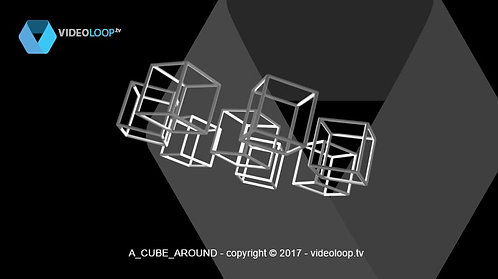 VideoLoop.tv | Rotating wired cubes