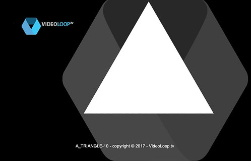 VideoLoop.tv   An isometric triangle grows in front