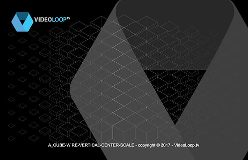 VideoLoop.tv | A vertical center scale isometric wired cubes animation
