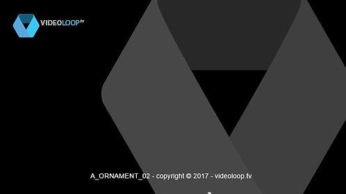 VideoLoop.tv | Growing vectorized ornament