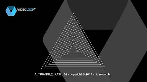 VideoLoop.tv | Animated triangle fine path