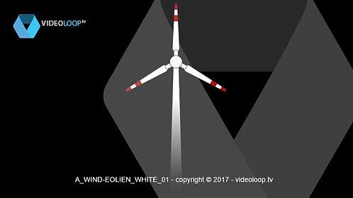 VideoLoop.tv | A wind turbine animation