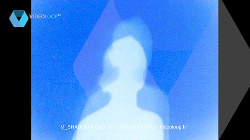 M_SHADOM-HEAD_02 | shadow of a woman making a rotation of the head  | videoloop.tv - free video animation