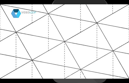 VideoLoop.tv   A isometric triangles animation - Seamless pattern