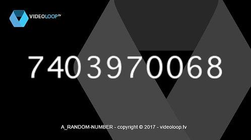 VideoLoop.tv | Random numbers animation