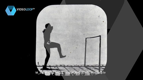 VideoLoop.tv | An athlete running and jumping