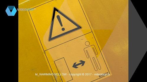 VideoLoop.tv   Warning yellow sign