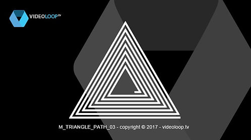 VideoLoop.tv | Animated triangle path