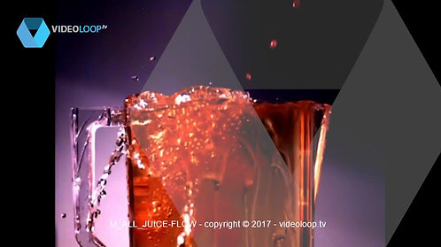 VideoLoop.tv | Slow motion fluid fill a container