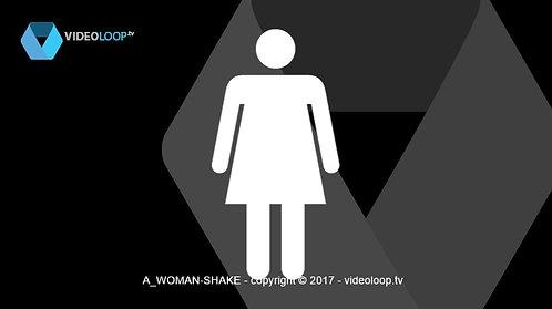 VideoLoop.tv | Shaking woman pictogram
