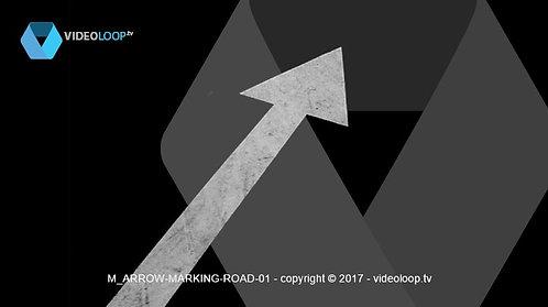 VideoLoop.tv | Road arrow marking