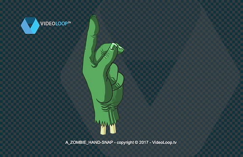 videoloop.tv | A hand drawing zombie hand snap