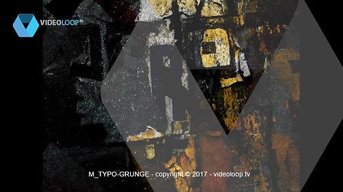 VideoLoop.tv | Grunge typo style