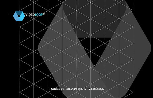 VideoLoop.tv | Tiled isometric wired cube - Can be repeated on all its axes - Left animation