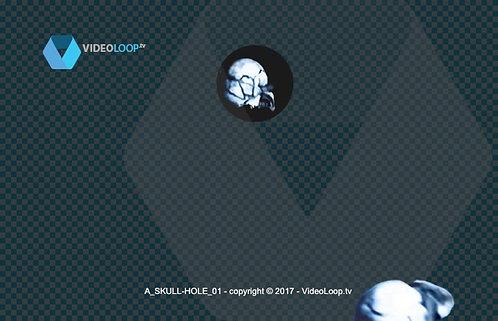 videoloop.tv | Skulls fall from a hole