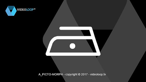 VideoLoop.tv | Morphing laundry pictogram