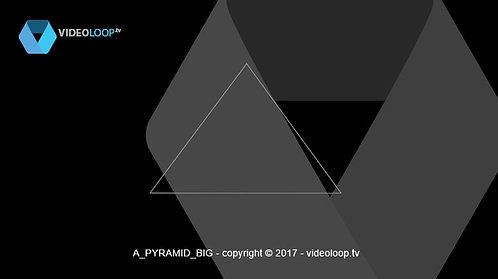 VideoLoop.tv | A big wired pyramid rotate