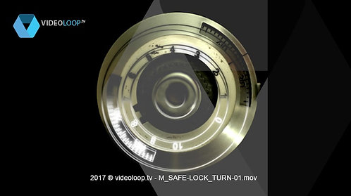 VideoLoop.tv | A combination lock of a safe turns