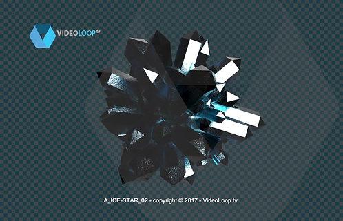 Videoloop.tv | 3D colored crystals