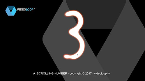 VideoLoop.tv | Scrolling numbers from 0 to 9