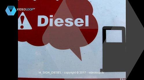 VideoLoop.tv | Diesel warning sign