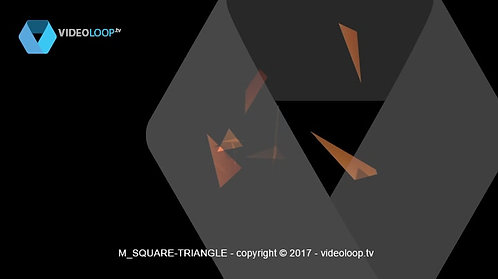 VideoLoop.tv | Square triangles particles