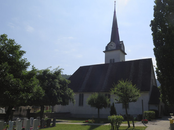 Our concert venue, a small church in Langenbruck