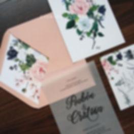 invitacion romantica sobre forrado ilust
