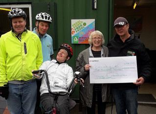 Pedal Power Receives Cheque for £500