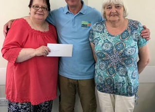 Pedal Power receives generous donation from the Gresford Craft Group