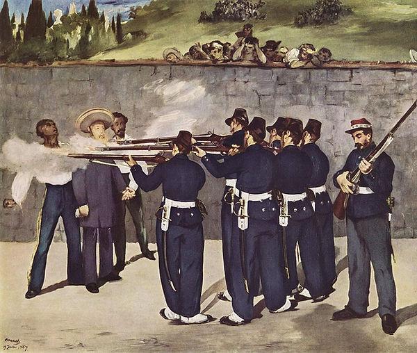 Edouard_Manet_poprava, 17.6.1867, malová
