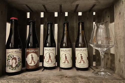 Bierpakket Vagebond met glas