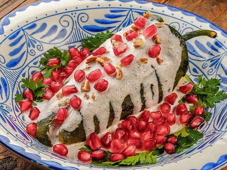 Chiles en Nogada versión saludable
