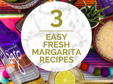 Three Authentic, Fresh Margarita Recipes