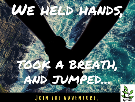 We held hands, took a breath, and jumped...
