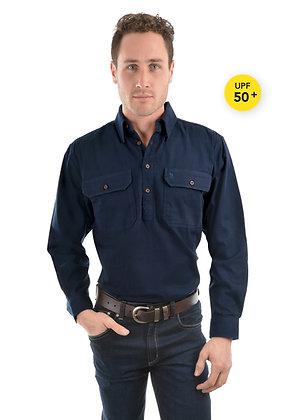Thomas Cook Heavy Drill Shirt Half Placket