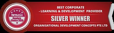 ODC 2021 HRM Silver Winner for Learning & Development