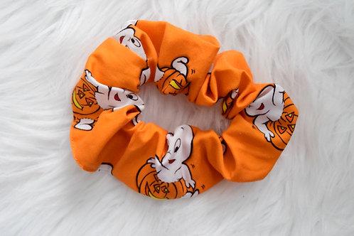 Friendly Ghost Orange Scrunchie