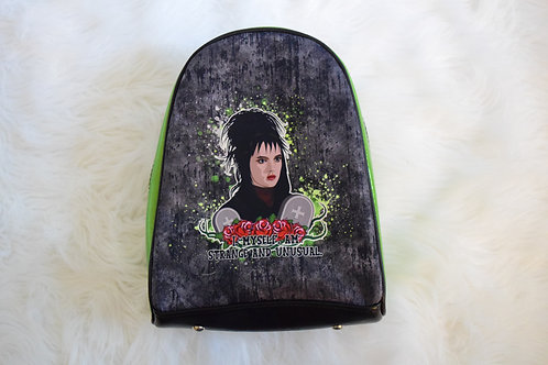 Green Glitter Strange and Unusual Mini Backpack