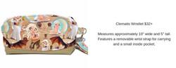 Clematis Glitter Wristlet