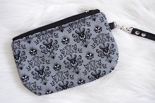 Gray Wallpaper Mini Wristlet