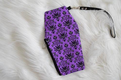 Purple Wallpaper Coffin Wristlet