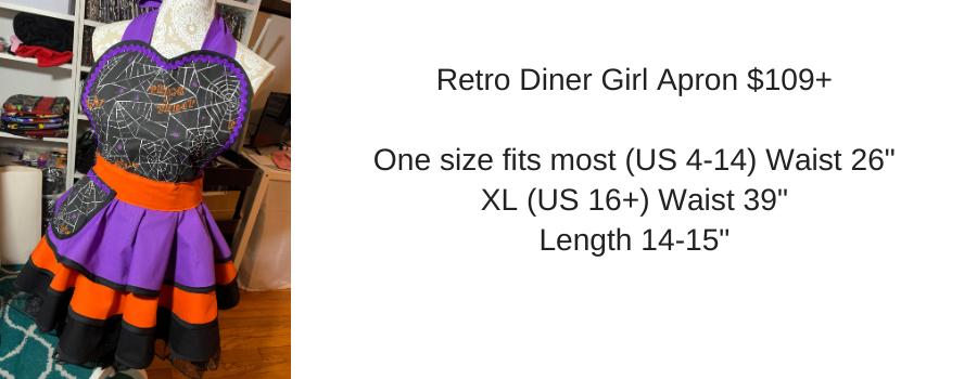 Retro Diner Girl Apron