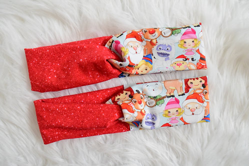 Santa and Friends Faux Turban Headband