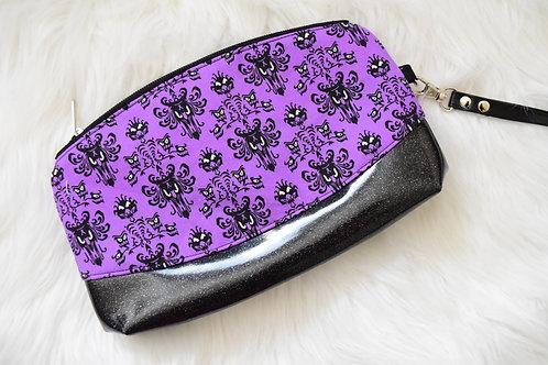 Purple Wallpaper Glitter Wristlet